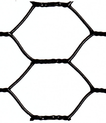 Hex mesh vinyl coated wire fence
