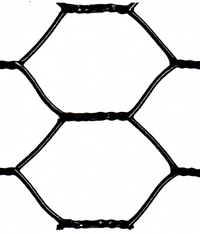 vinyl coated hex netting