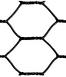 black vinyl coated hex netting