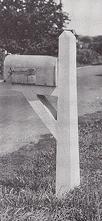 concrete mailbox post
