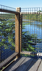 welded wire railing safety mesh