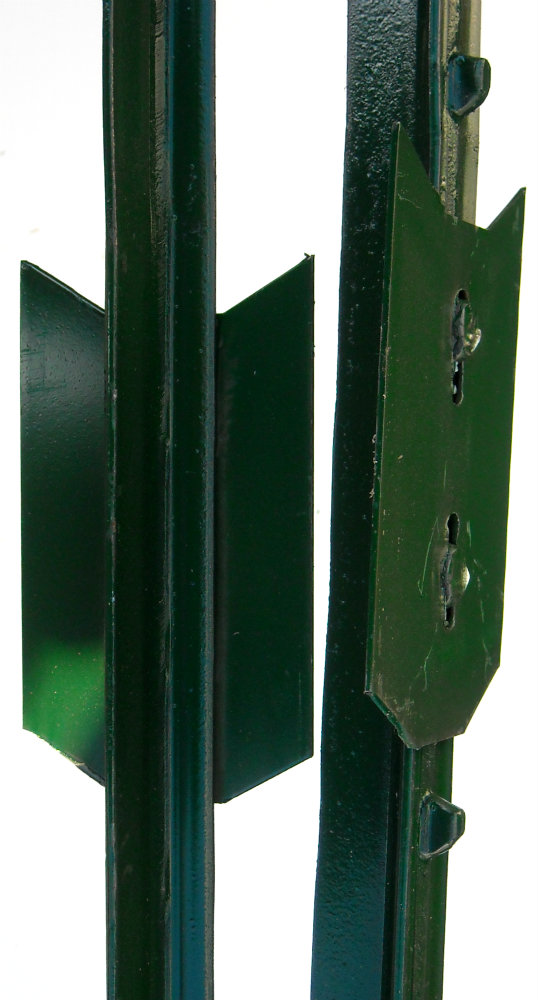 green studded T posts