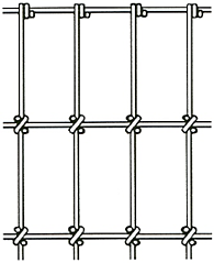 """2"""" x 4' fence with square knots drawing"""