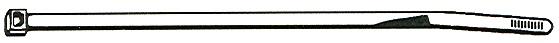 safety tie black nylon