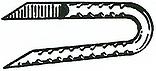 galvanized fence staple