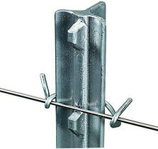 galvanized T fence post with clip