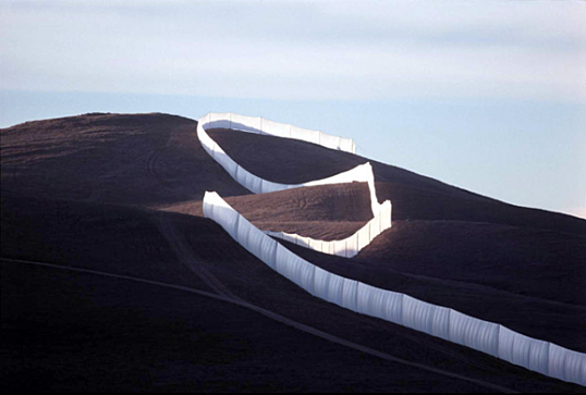 Running Fence by Christo and Jeanne-Claude