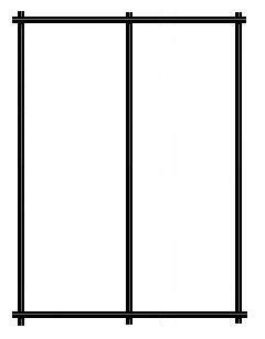 "14 gauge1-1/2""x4"" black vinyl coated welded wire fence"