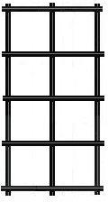 "14 gauge 3/4""x3/4"" black vinyl coated welded wire fence material"