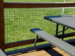 Louis Page fence panel and picnic table
