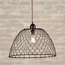 hex mesh wire light shade