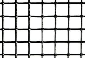 black vinyl coated hardware cloth graphic