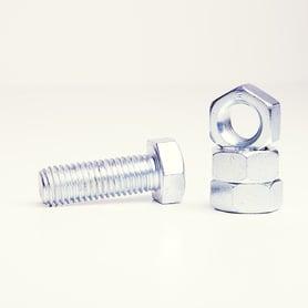 galvanized screw and nut