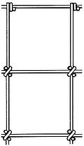 sheep and goat fence drawing: S knot